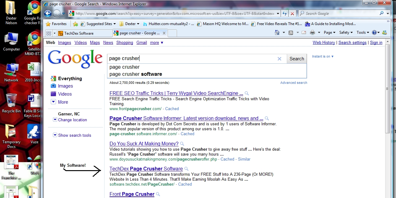 Page Crusher Software Google Instant Results